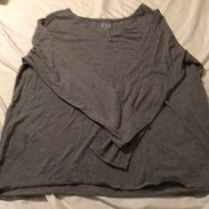 Lane Bryant long sleeve t shirt heather grey 18/20